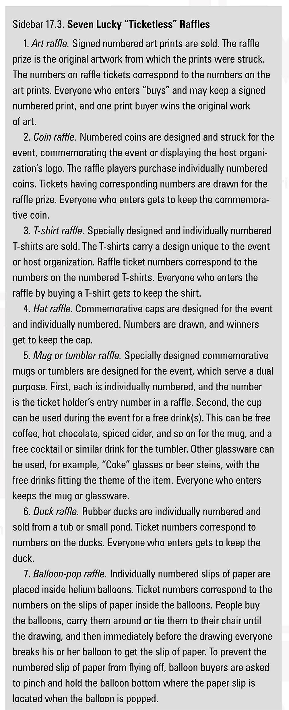 sample fundraising aid raffles fundraising book